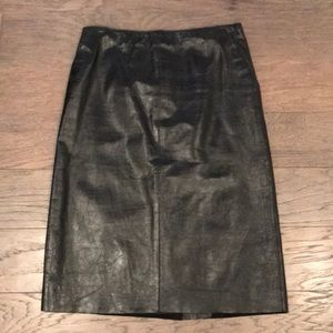 Black Leather Kenneth Cole Skirt